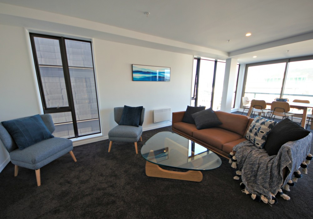 Lounge in three bedroom apartment Victoria Street